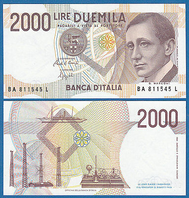 ITALY 2000 Lire 1990 P 115 UNC Low Shipping Combine FREE
