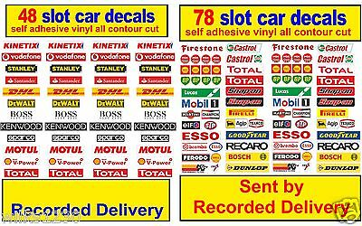 Slot car / Scalextric Barrier stickers Model Race Logo Lego adhesive vinyl decal