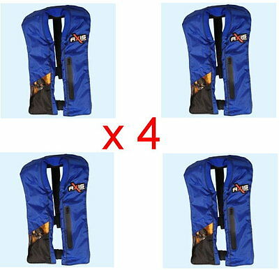 Axis Offshore  Inflatable PFD1 Blue Lifejacket  X 4