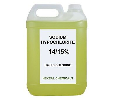 SODIUM HYPOCHLORITE 14/15% | 10 LITRE (2x 5L) Liquid Chlorine | Swimming Pool