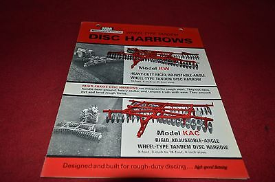 Minneapolis Moline Oliver Tractor KAC KC Disc Harrow Dealer's Brochure DCPA5