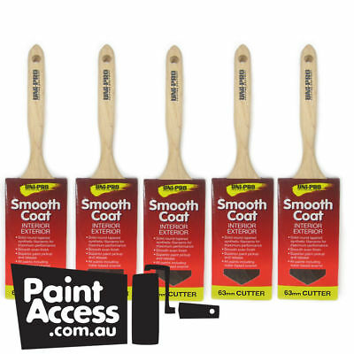 Uni-Pro Paint Brushes Synthetic Sash Cutter 63mm - Pack of 5