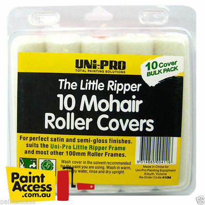 Uni-Pro 10 Mohair Roller Covers 100mm Mohair Baby Roller Covers