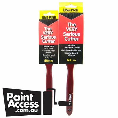 "Paint brushes/Pack of 2 UNI-PRO ""THE VERY SERIOUS"" CUTTERS, 50mm and 63mm"