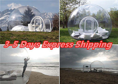 3.5M Outdoor Single Tunnel Inflatable Bubble Tent Camping Family Fast Shipping