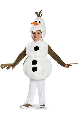 Disney Frozen Official Licensed Olaf Child Deluxe Plush Snowman Toddler Costume