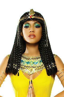 Deluxe Egyptian Goddess Cleopatra Braids Women Adult Wig