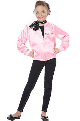 Grease The Pink Satin Ladies Child Halloween Costume