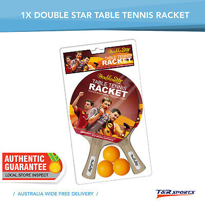 1 Pr Of Double Star Rackets Balls Set Includes 2 Rackets + 3 Balls Free Postage