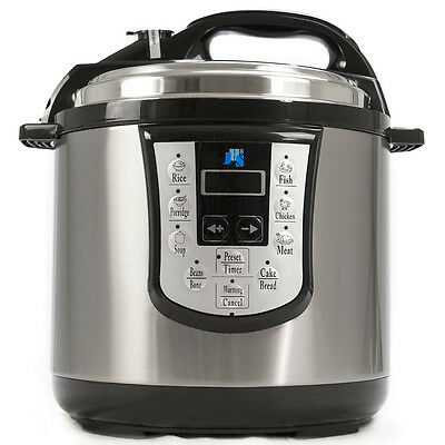 NEW Stainless Steel 8-in-1 Electric Pressure Cooker 6L NonStick 1000W Warranty