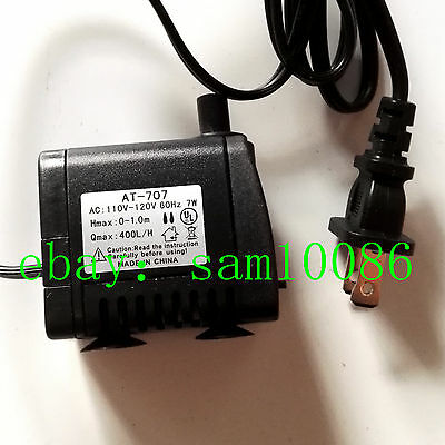 AC 110V 7W Small Submersibl Water Pump ,Condensed Water Circulation Pump US Plug