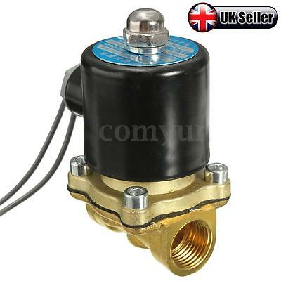 1/2'' 12V DC NC Electric Solenoid Water Valve Air Diesel Gas Horn Solid Coil -UK