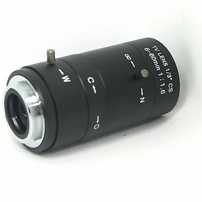 Manual IRIS ZOOM 6-60mm CS C Mount Lens for CCTV Camera Industrial Microscope s