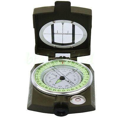 Portable Metal Military Army Geology Lensatic Compass Prismatic Outdoor Camping