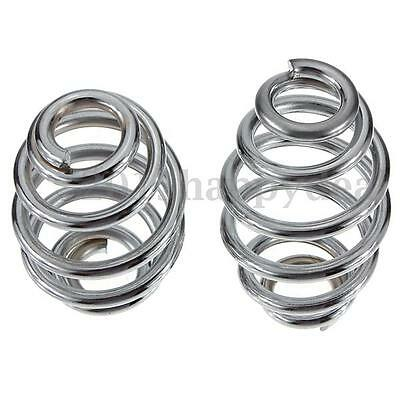 Pair 3'' Chrome Motorcycle Solo Seat Springs Steel Set For Harley Chopper Custom