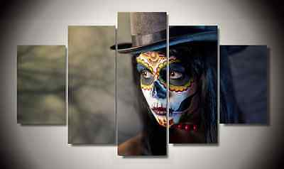 Framed Pictures Canvas Prints Laday Sugar Skull Day of the Dead Mexico Wall Art