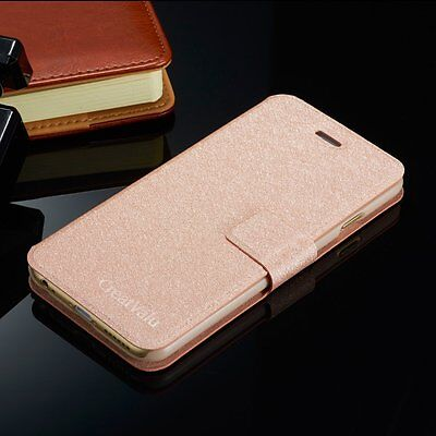 Luxury Slim Wallet Pu Leather flip case cover for Apple iPhone & Samsung Models