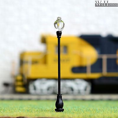 5 x OO / HO Scale led Street Lights Model Train Railroad Lamp posts Lamps #AQ60S