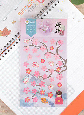 1 sheet cherry blossoms Filofax notebook diary Planners paper Decoration sticker