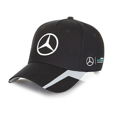 New! 2016 Mercedes-AMG F1 Formula One Official Team Cap BLACK - Adult One Size