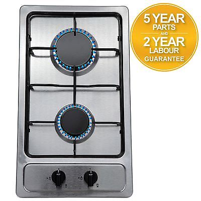 SIA SSG301SS 30cm Compact Domino Gas Hob In Stainless Steel | LPG KIT | FFD