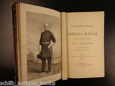 1882 1st ed Life of Union Army General Ambrose Burnside CIVIL WAR Rhode Island