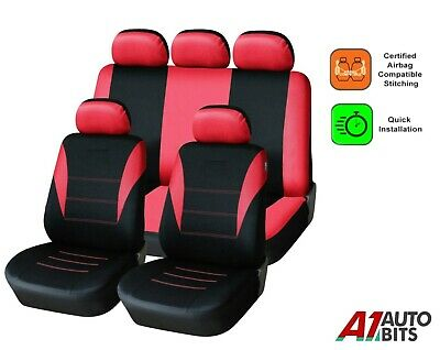 Sporty To Fit Renault Clio Laguna Megane Scenic Car Seat Covers In Red Black
