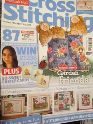 World Of Cross Stitching UK Magazine #214- & Gifts-Kingfisher/UK Sampler/Easter