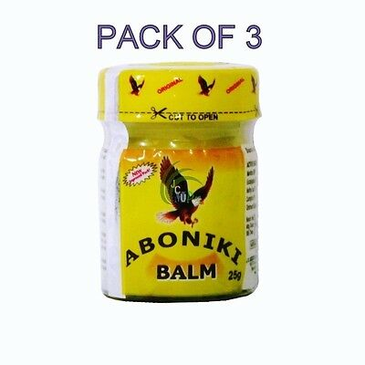 Aboniki Balm Relieves  aches, waist pain, backaches,pain cold (Pack of 3)