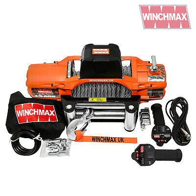 ELECTRIC WINCH 24V 4x4 13500 lb SL WINCHMAX BRAND WITH WIRELESS REMOTE FEATURE