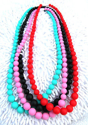 Silicone Teething Necklace for Mum Baby Sensory Chew Jewellery Pendant BPA free