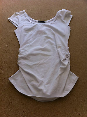 Lilly B White Maternity T Shirt / Top - Brand New - Size Large