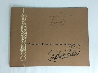 Vtg Catalog POSTER BEDS HANDMADE by ROBERT REID Mobile Alabama HONDURAS MAHOGANY