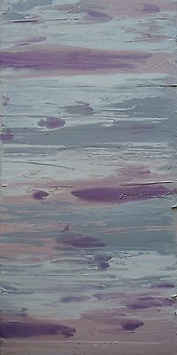 Modern Original Abstract Canvas Painting Cream Pink Grey Lilac Dee's Funky Art