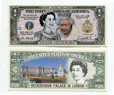Queen Elizabeth 11    MILLION   DOLLAR  BILL