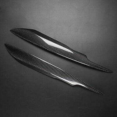 for Audi A4 B7 S4 RS4 Real Carbon Fiber Eyebrow Eyelid Headlight Cover 2005-2008