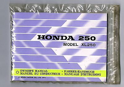 Honda Xl 250 Motosport Owners Manual 1973 You Cannot Find A Better One Mint Cond