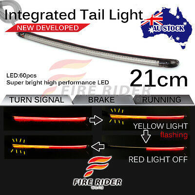 FOR Universal Motorcycle FRW 21cm LED Integrated Tail Light Brake Turn Signal