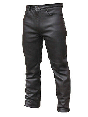 Mens Motorcycle A Grade Cowhide Leather Jeans Trouser All Sizes Cheapest Prices