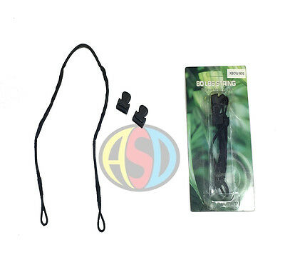 Replacement crossbow pistol strings 50&80 Lbs high quality with cap ends