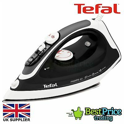 Tefal Maestro 63 Stainless Steel Steam Iron 2300W *BRAND NEW *BLACK FV3763