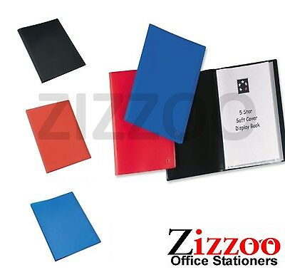 A4 Display Folder With Polypropylene Pockets - 20 Or 40 Pocket - Var Colours