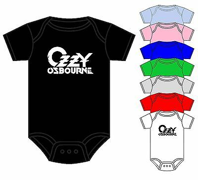 Ozzy Osbourne Babygrow Onesie Black Sabbath Rock Music Band Asst Colours 0-18