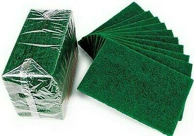 10 x Extra Heavy Duty Catering Professional Green Scourers Scouring Pads