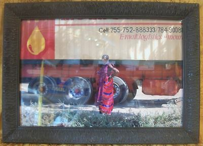 """Beautifully Framed Picture Advertisement 21"""" x 17"""" OD"""