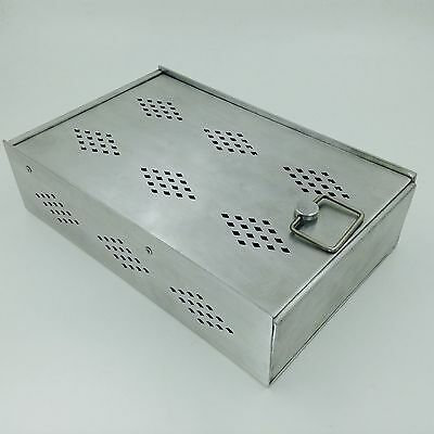 New Aluminium sterilization tray with silicone mat surgical  instruments