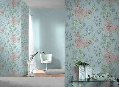 RASCH EMILIA FLORAL BLOSSOM /& ROSE WALLPAPER SHABBY CHIC FEATURE WALL DECOR NEW