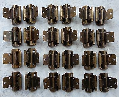 12 Pair 24 Hinges Partial Wrap Self Closing Cabinet Hinge 3/8 Inset 3/8 Overlay