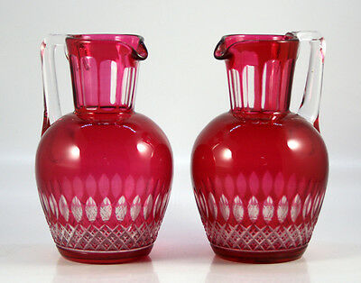 Pair of Cut Crystal Jugs
