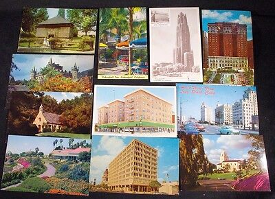 Lot of 11 Vintage Postcards - Architecture Scenic Places 1960's-1970's Unposted